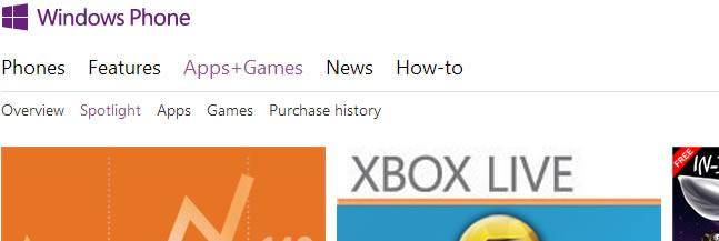 App Store : Windows Phone Store