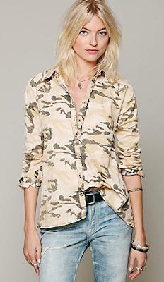 camo print blouse