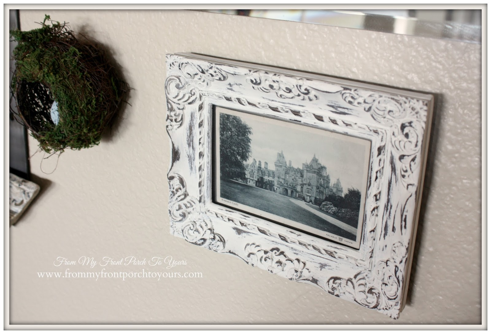 Gallery Wall- Kinnaird Castle Vintage Post Card- The Magnolia Market-From My Front Porch To Yours