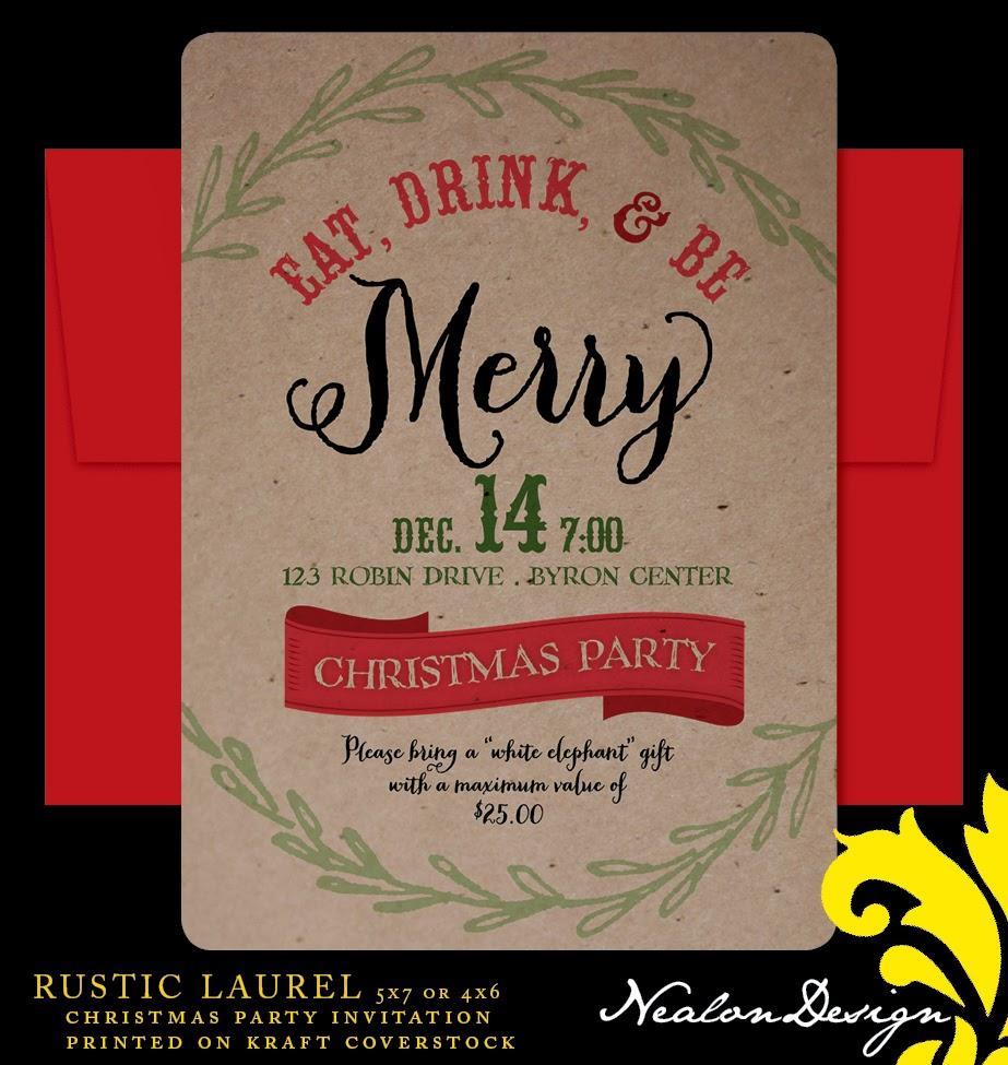 Nealon Design: Rustic Laurel CHRISTMAS PARTY