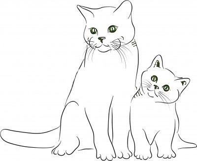 La Chachipedia Dibujos de gatos para colorear, para imprimir y gifs  animados de gatos