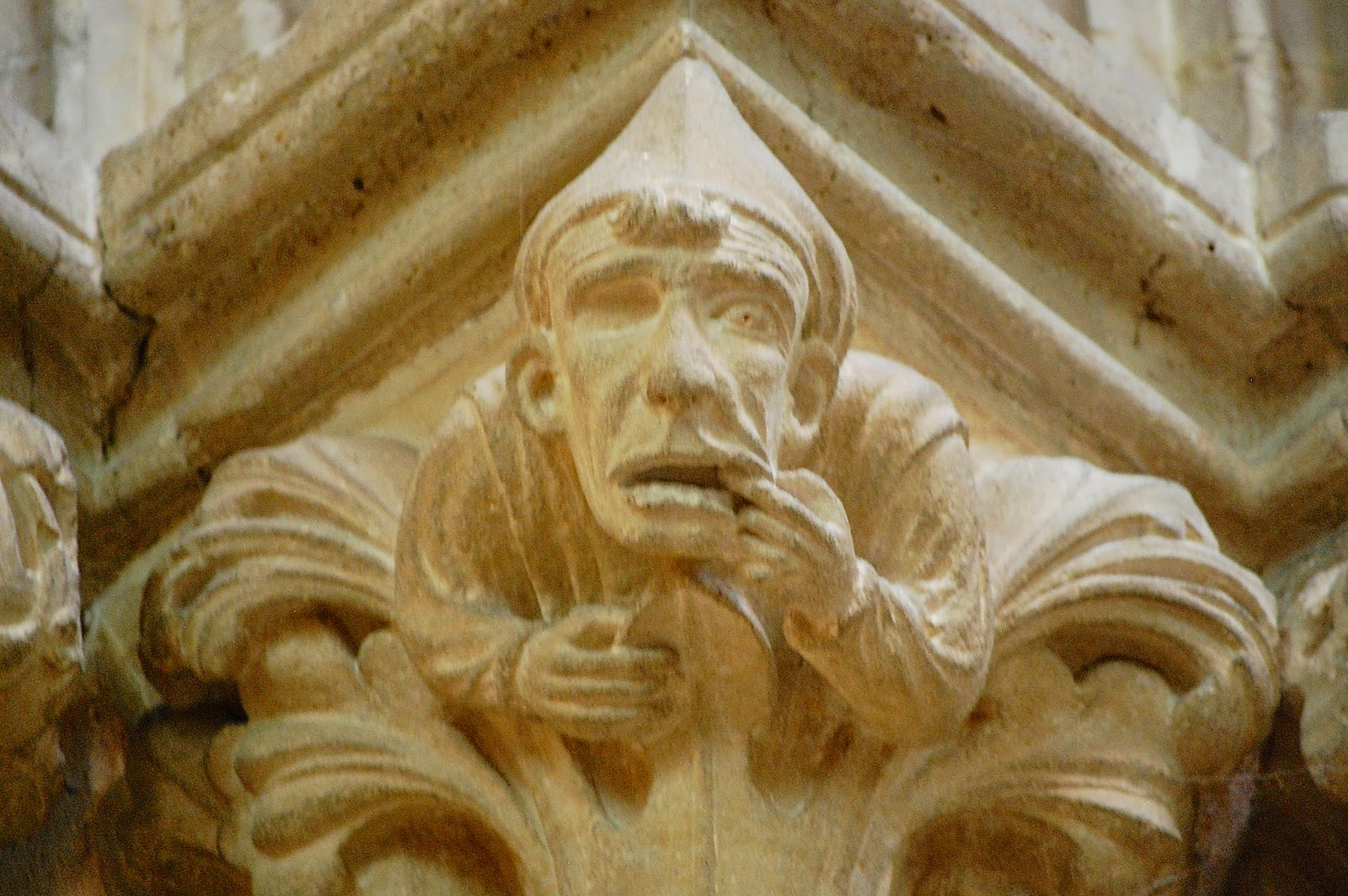 Toothache carving in south transept