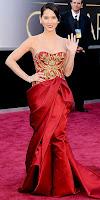 Оливия Мън на Оскари 2013 в рокля на Marchesa