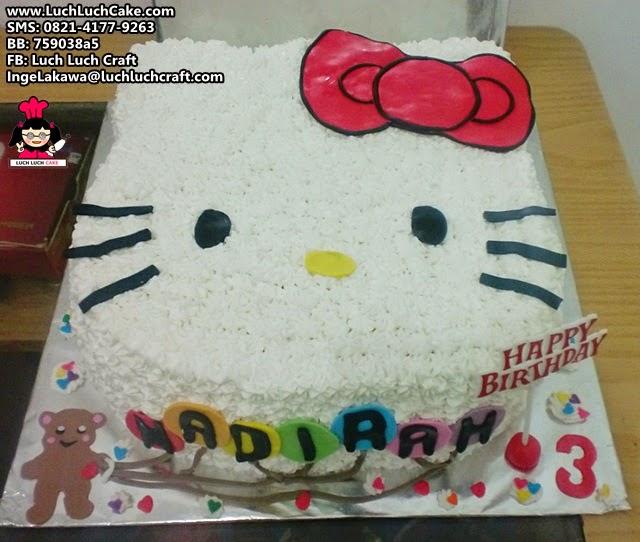 Kue Tart Hello Kitty 3D Lucu Daerah Surabaya - Sidoarjo - Gresik