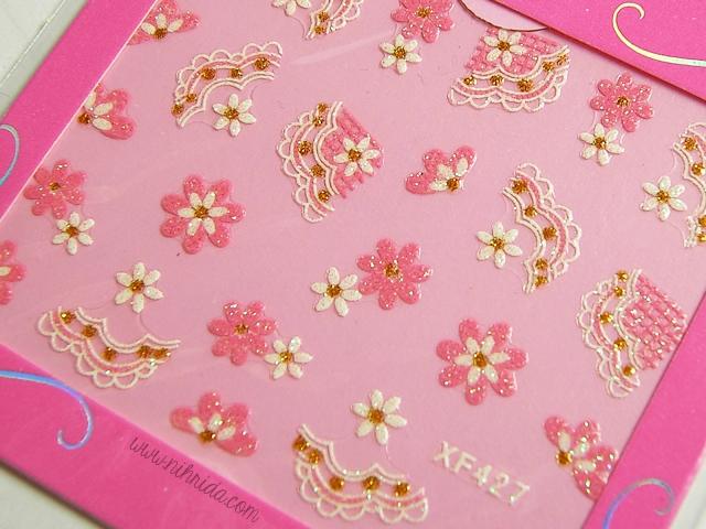 Born Pretty Store Nail Stickers XF427