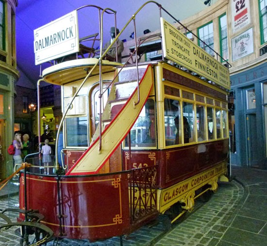 Tram, recreated Victorian street, recreated Edwardian street, Glasgow, transport, Scotland