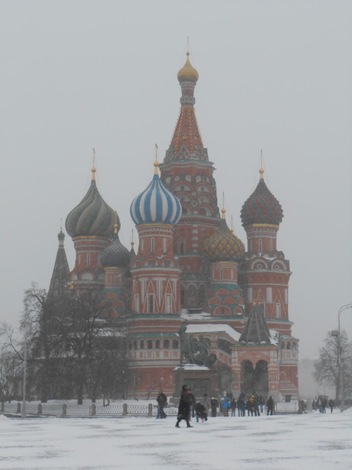Snowy St Basil's MOscow