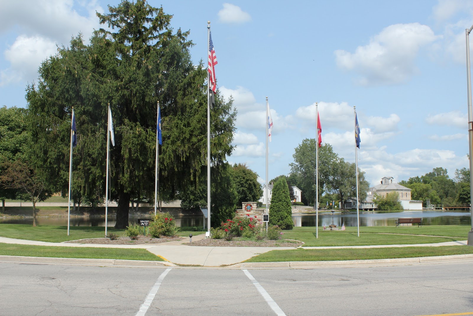 wisconsin historical markers kiel veterans memorial and park