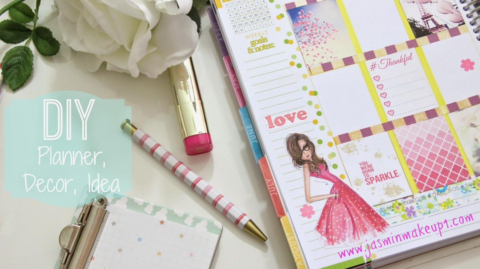 Diy decoraci n de agenda planner ideas jasminmakeup1 for Decoracion pagina