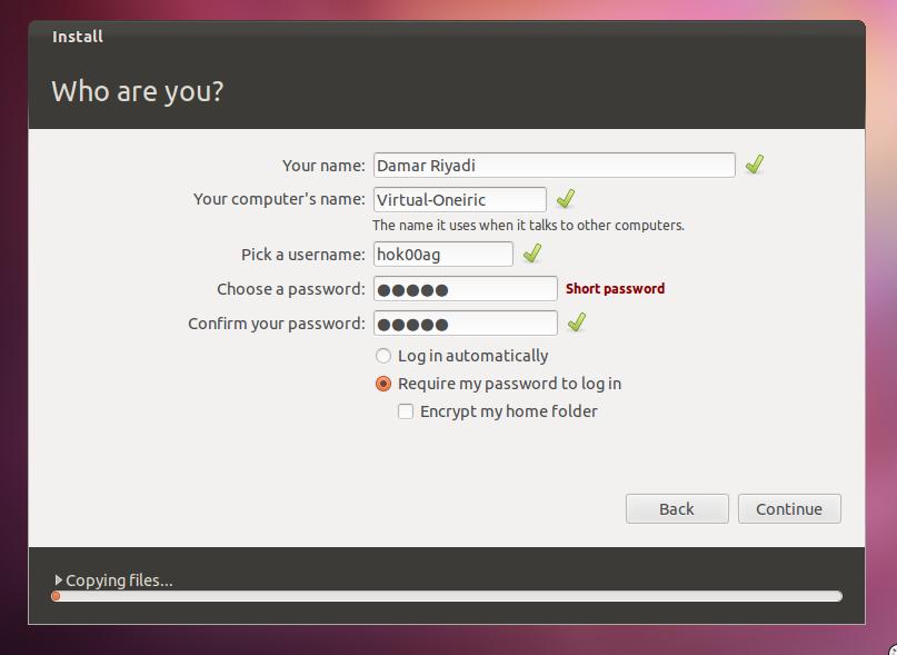 Mengatur username dan password untuk login