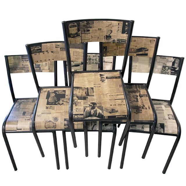 krzesło decoupage pomysły inspiracje by Eco manufaktura