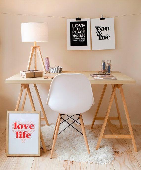 bureau, office, affiche, inspiration, bullelodie
