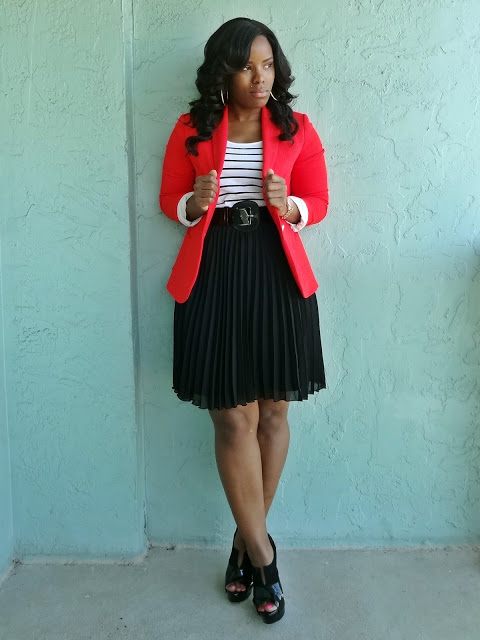 Sassy Saffy: The Flawless fit of a Red Blazer!!!