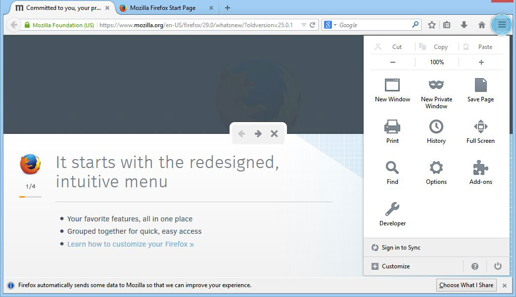 Cara Mengubah Halaman Awal Mozilla Firefox versi 29 gambar 2