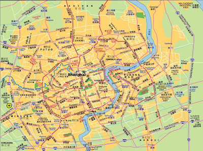 Street map of Shanghai