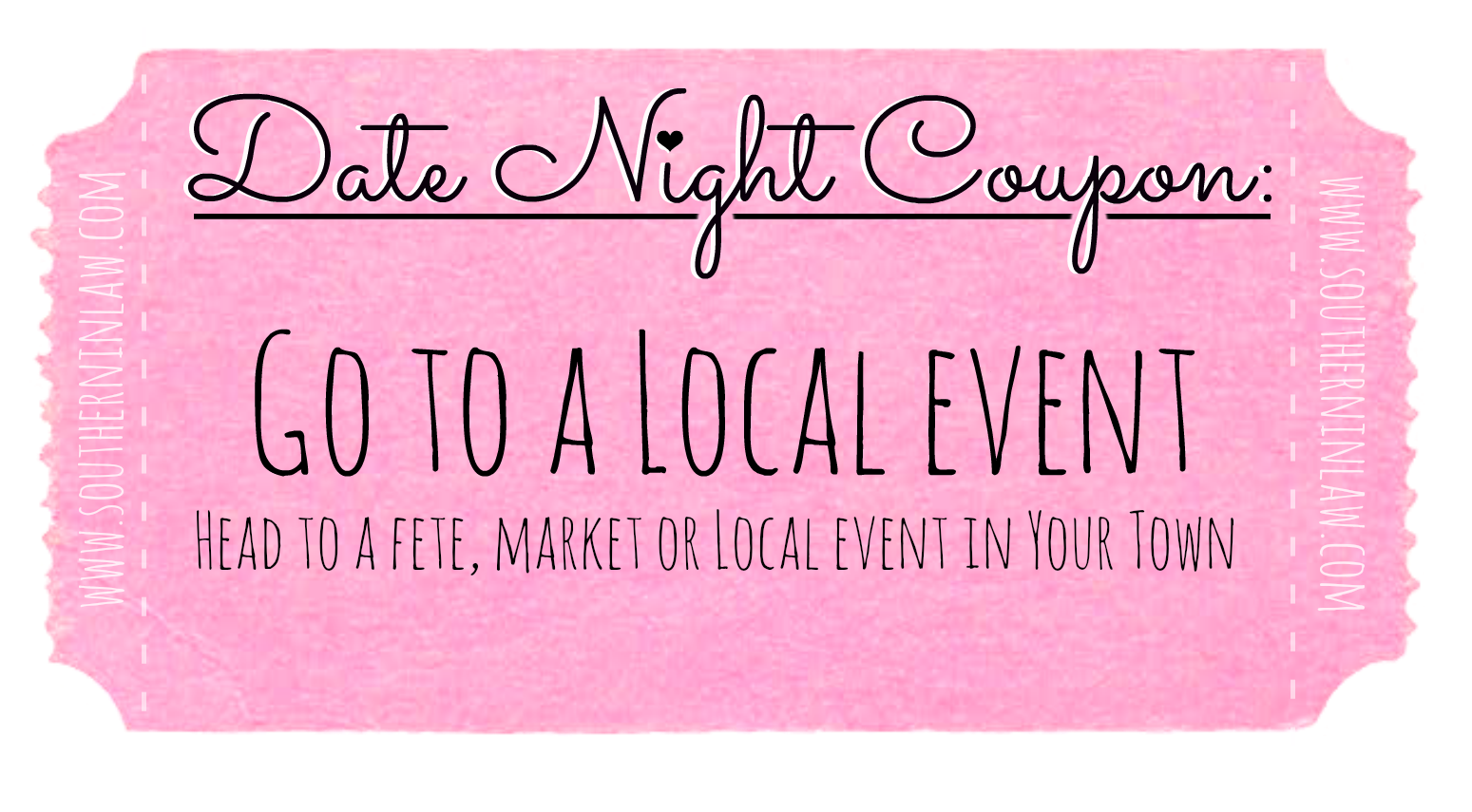 Affordable Date Ideas - Date Night Coupons - Go to a Local Event