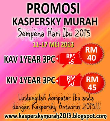 promosi hari ibu 2013 kaspersky murah 2013