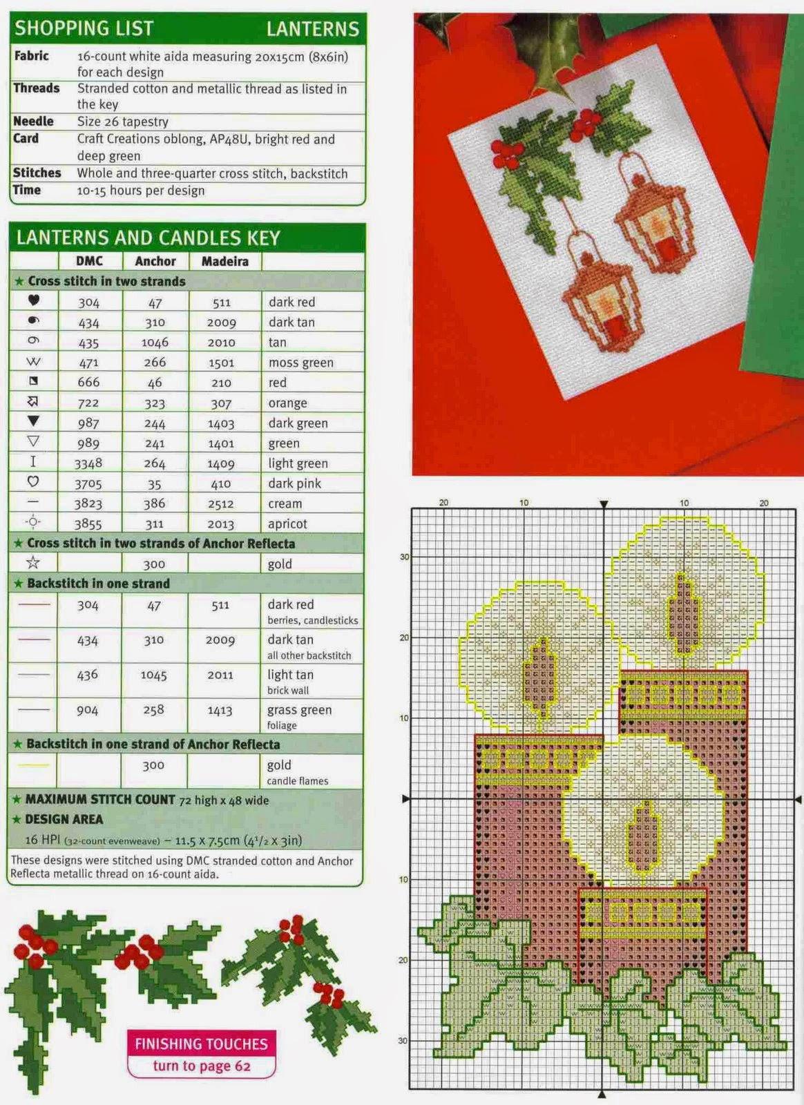 Схемы вышивки для новогодних подарков - Handmade 22