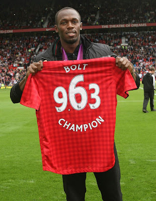 Usain Bolt in old trafford