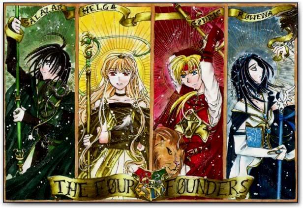 Anime Characters Hogwarts Houses : Hogwarts alumni founder anime