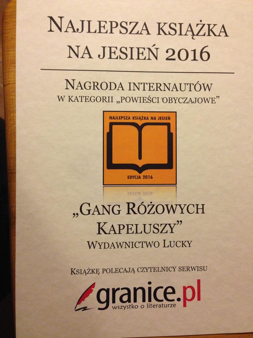 Nagroda internautów w plebiscycie Książka na jesień