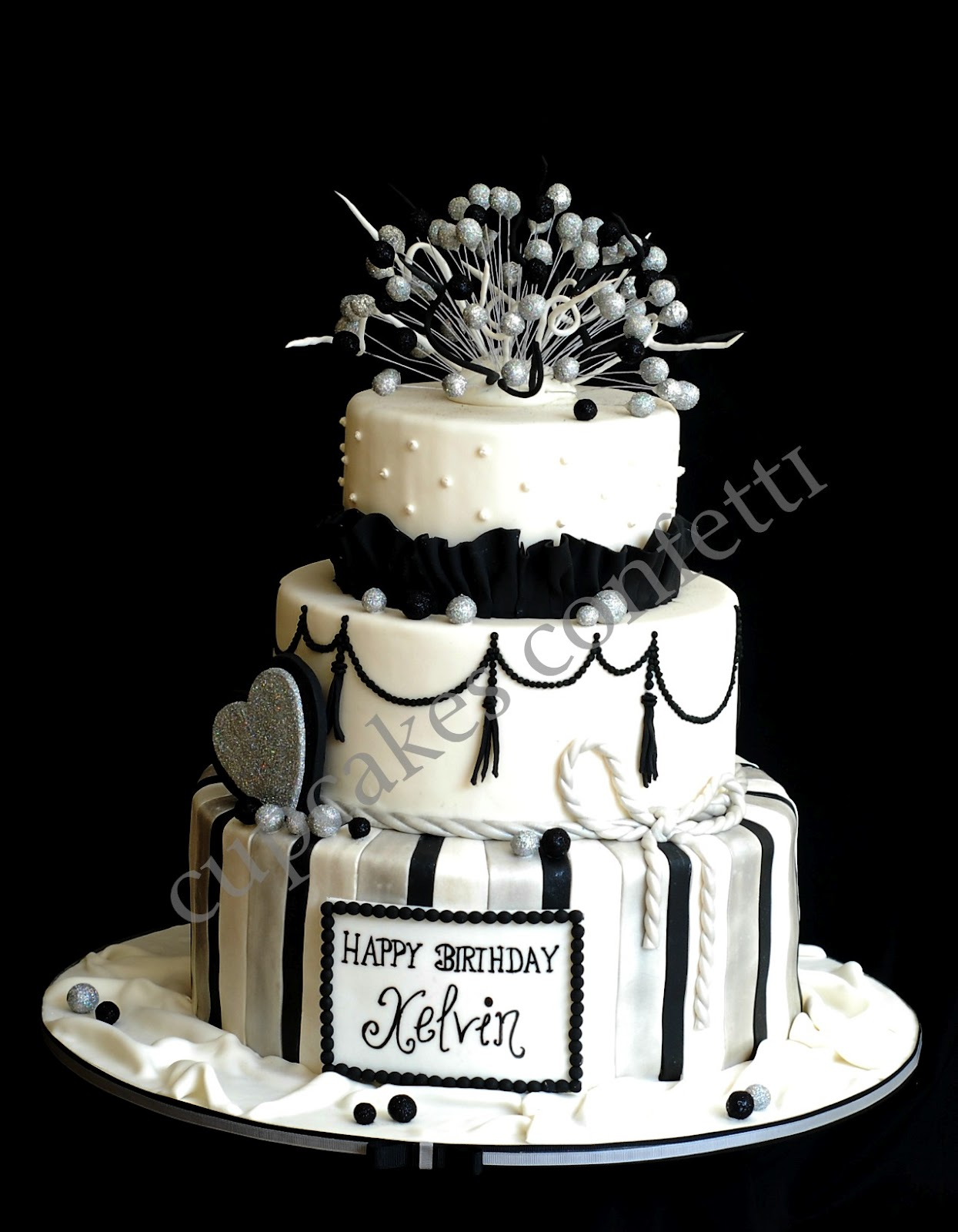 Birthday Cake Pictures Black And White : Cupcakes Confetti: Homme Black and White