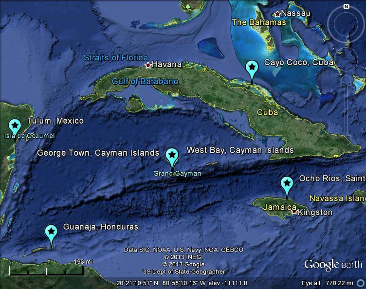 The latest worldwide meteormeteorite news mbiq detects jamaica mbiq detects jamaica cayman islands honduras cuba mexico meteor 29jul2013 v4 c 2013 lunarmeteoritehunter google earth gumiabroncs Images
