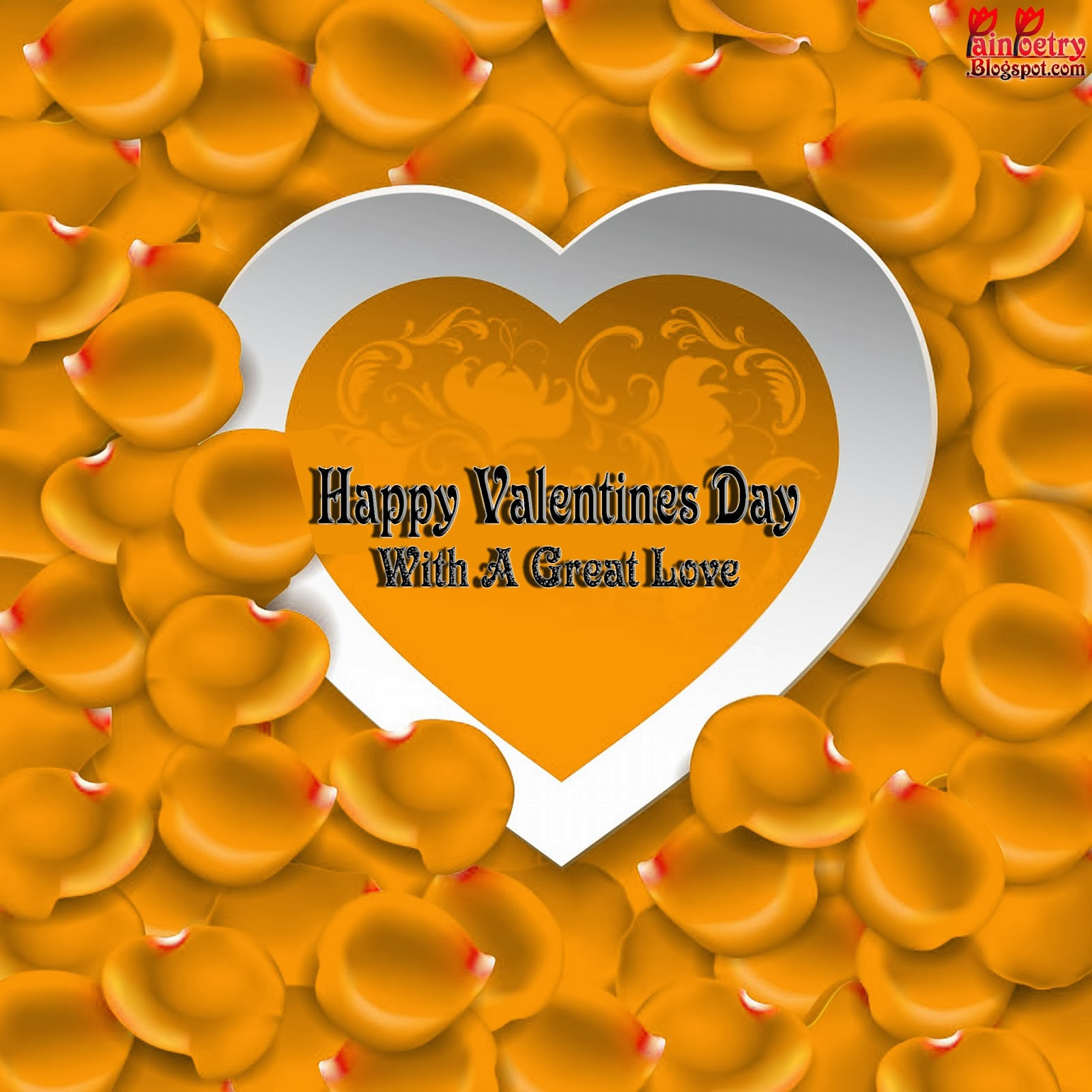 Happy-Valentines-Day-Wishes-Walpaper-With-Yellow-Petal-Image-HD-Wide