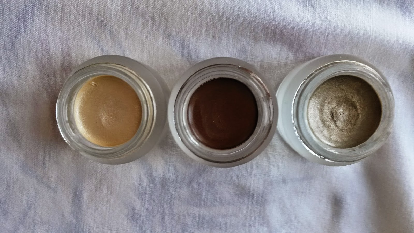 3CE - GLAM CREAM SHADOW in SPOTLIGHT, GOLDEN NUDE and GLAMOROUS