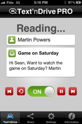 Text'nDrive - Speech To Text Hands Free Message Reader