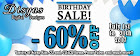60%OFF BIRTHDAY SALE!!