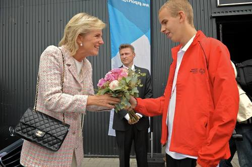 Princess Astrid attended the closing ceremony of the Special Olympics European Summer Games in Antwerp yesterday.