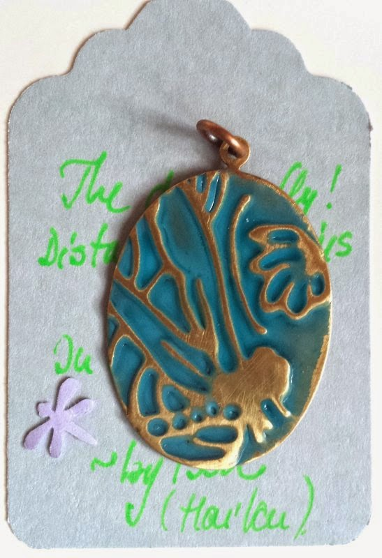 Art Charm Exchange (Bead of Courage): Soar! Dragonflies: vintaj, embossing, patina, metal work :: All Pretty Things