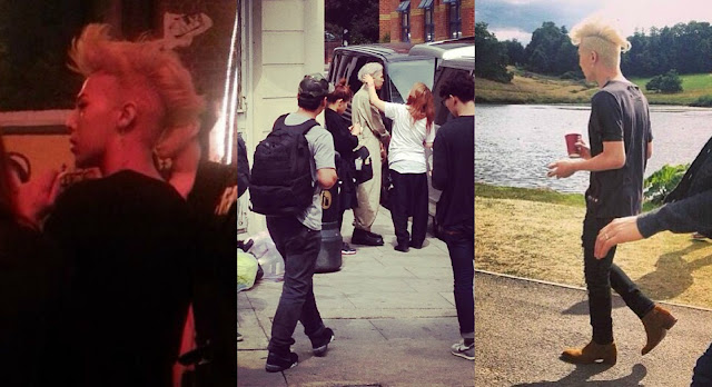 g-dragon caught filming a new mv in london