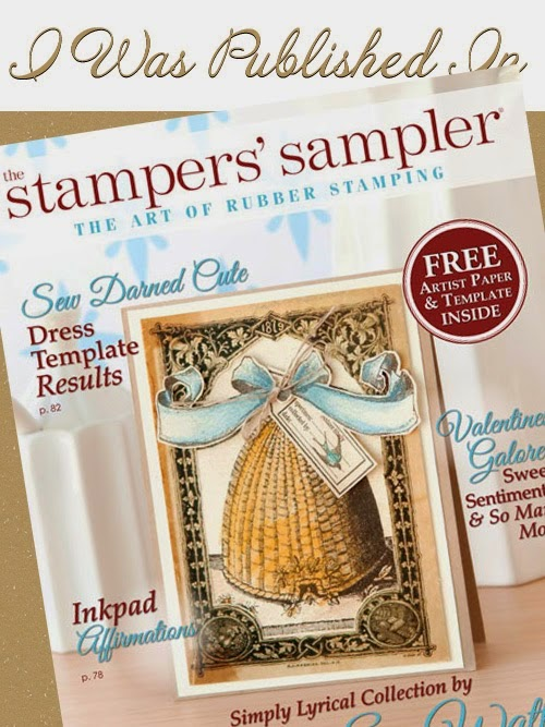 I was Published in Stampers' Sampler Spring 2015 Issue