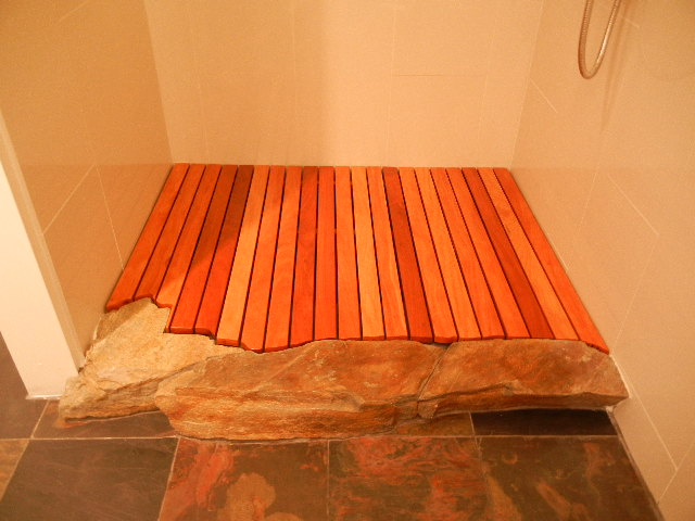 N o c modern design teak shower floor deck
