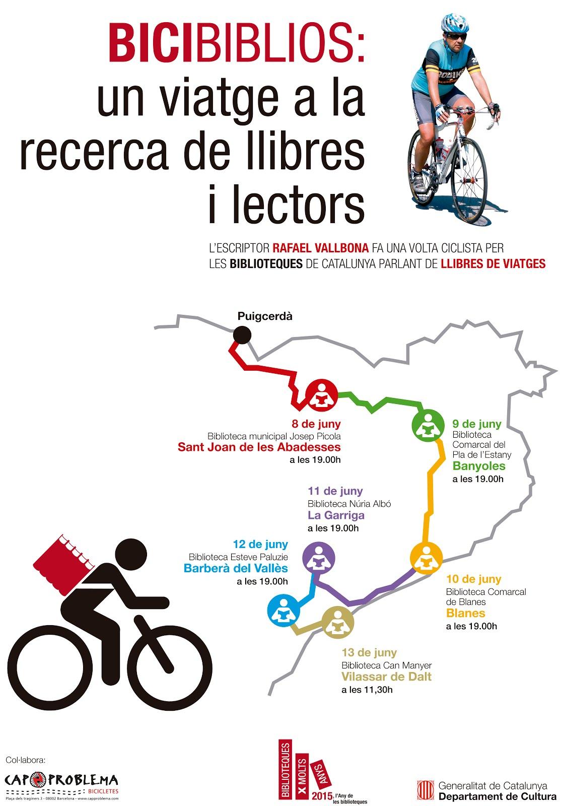 Bicibiblios, volta ciclista per biblioteques de Catalunya