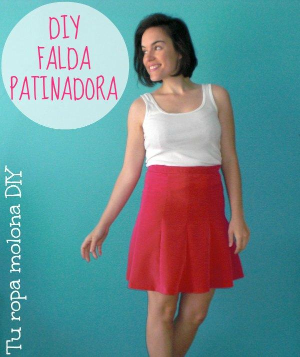 DIY FALDA PATINADORA