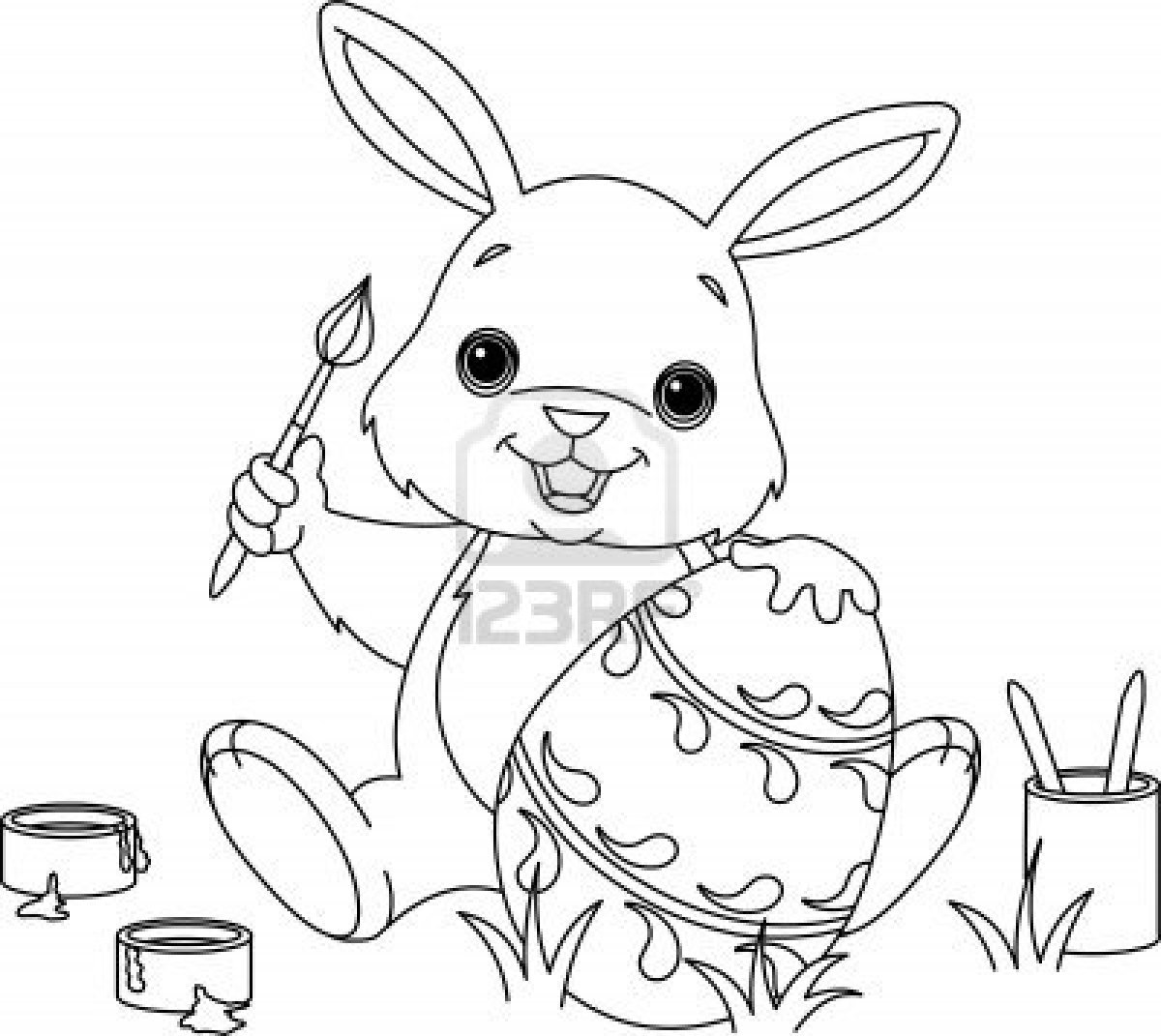Printable coloring pages of easter - Easter Bunny Pictures To Color Printable