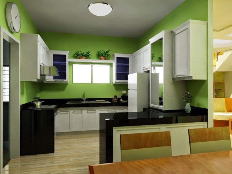 Dapur hijau suasana frash dan sejuk, dapur minimalis, dapur cantik