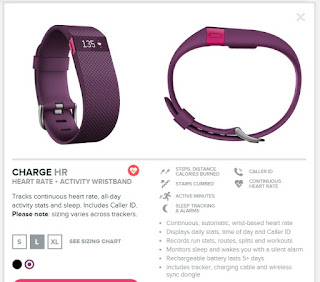 Fitbit Charge HR, Plum