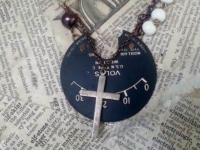 vintage ammeter dial