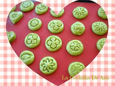Galletas de guistante verdes