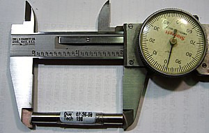 Dial Caliper demonstrating Abbe error