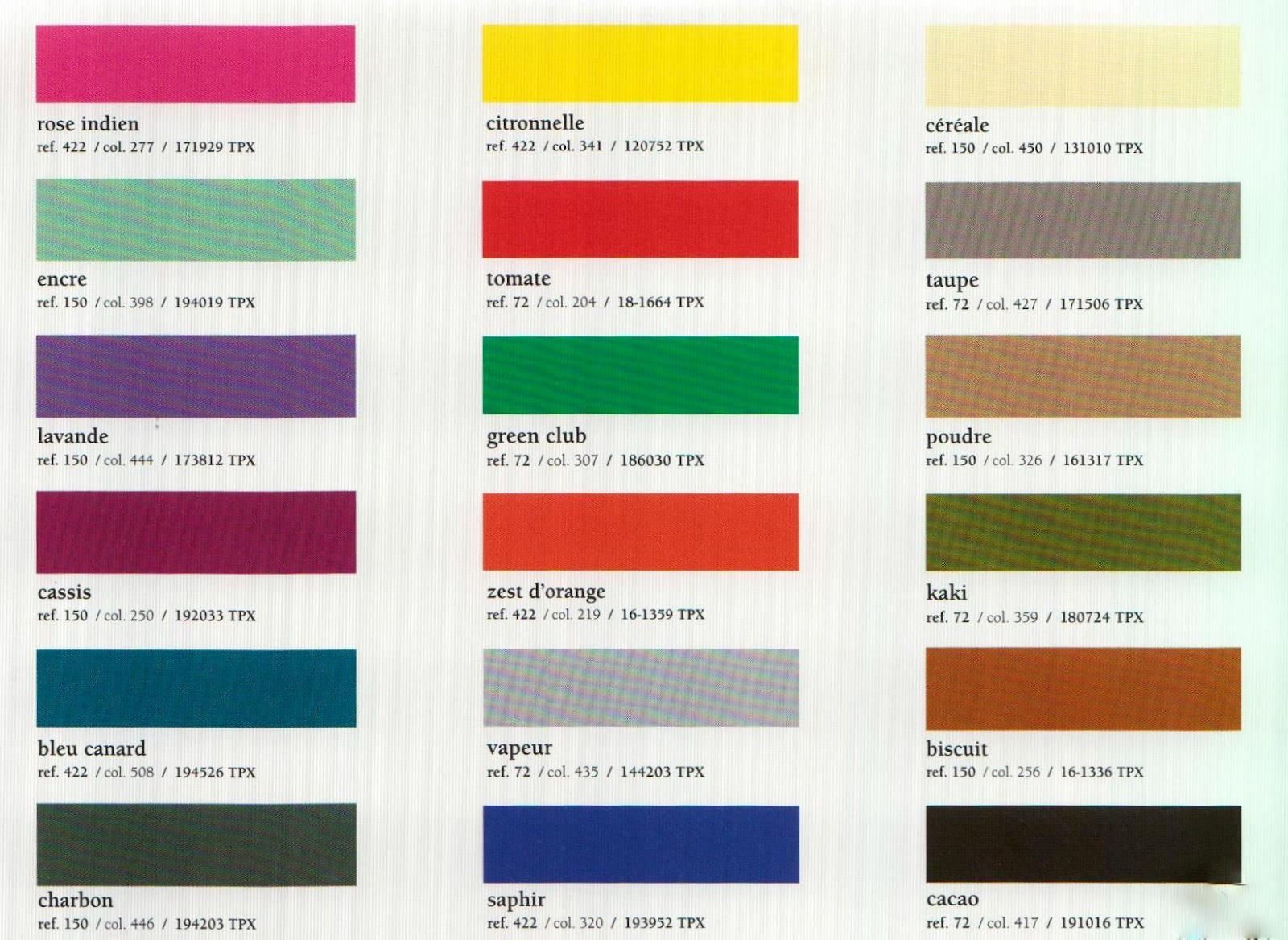 Autumn winter 2013-2014 trend color cards