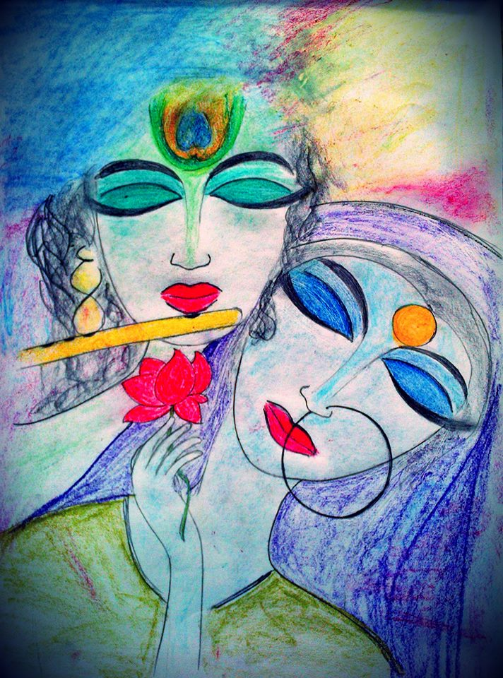 pencil sketches radha krishna abstract sketches