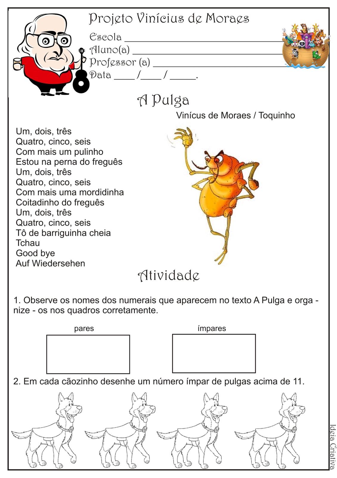 Atividade Pares Projeto Vinícius de Moraes