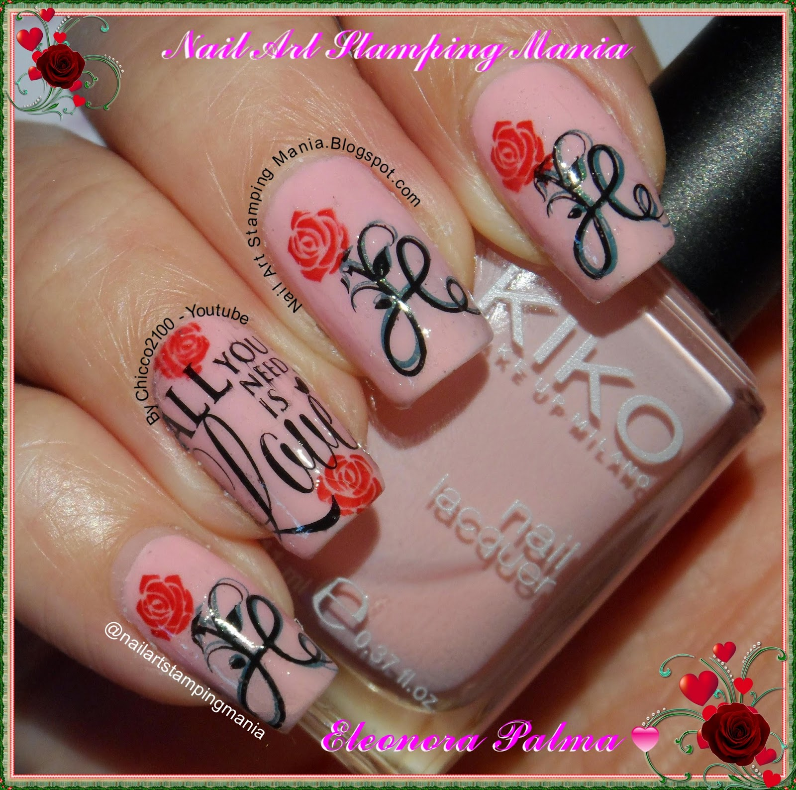 Nail Art Stamping Mania: Valentine\'s Day With Marianne - Nails Plates
