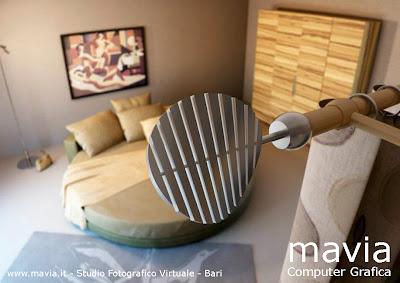 Arredamento di interni bastoni per tende moderni in ferro battuto acciaio e in legno disegno - Tende in legno per interni ...