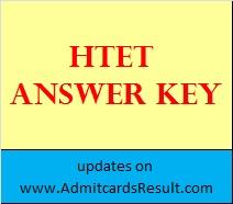 HTET November 2015 Answer key TGT PGT PRT